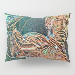 Iron Man Tony Stark Artistic Illustration Wires Style Pillow Sham