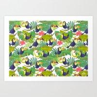 Toucan Paradise Pattern Art Print