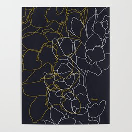 Pure poetry and some flowers Poster