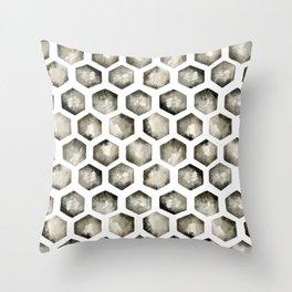 Watercolor Hexagons Throw Pillow
