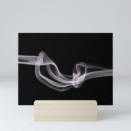 beautiful smoke shape photography Mini Art Print