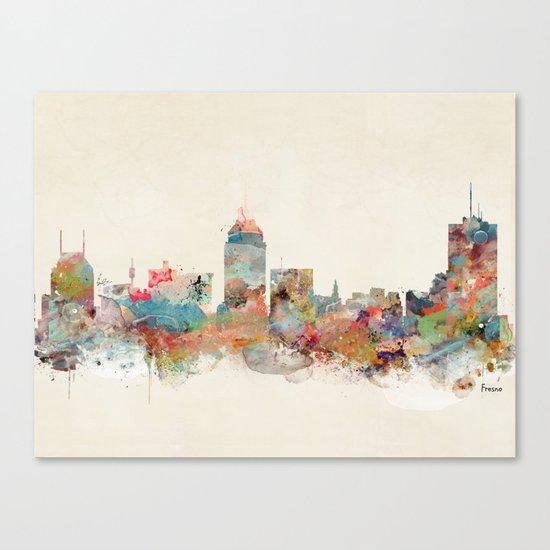 fresno california Canvas Print