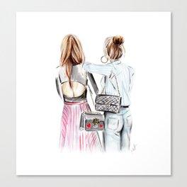 Street style girls Canvas Print