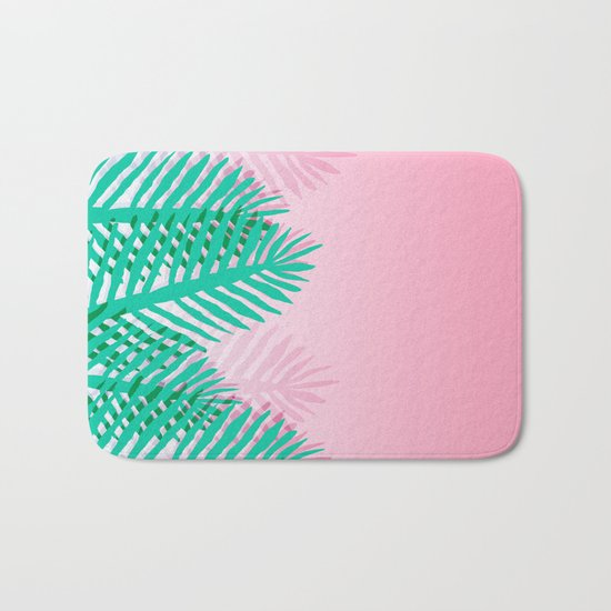 So Fine - palm springs desert plants indoor tropical oasis nature neon memphis throwback 1980s style Bath Mat