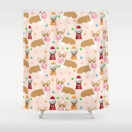 Corgi welsh corgis gumball bubblegum cute dog breed corgis pet gifts Shower Curtain