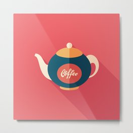 Coffee Kettle Metal Print