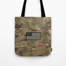 U.S. Flag: Woodland Camouflage Tote Bag