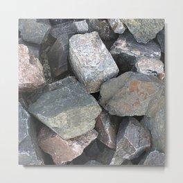 Texture #11 Stone Metal Print