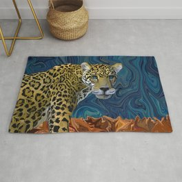 Leopard with the Sky in His Eyes Rug