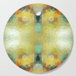 Mozaic design in soft and bright colors Cutting Board