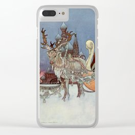 """The Happy Princess"" Fairy Art by Charles Robinson Clear iPhone Case"