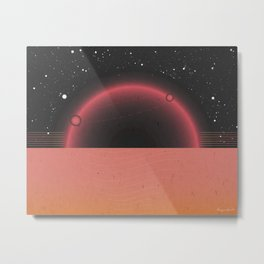 Moon in Aries Metal Print