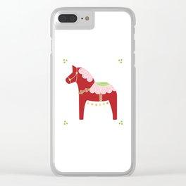 Valentine Dala Horse Clear iPhone Case
