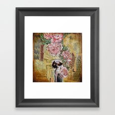 My blooming heart Framed Art Print