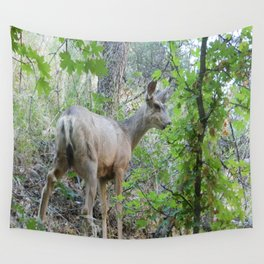 Deer in Zion's National Park Wall Tapestry