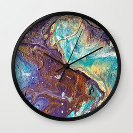 Copper Love Geode Wall Clock