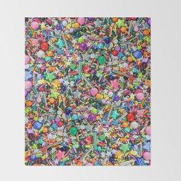 Rainbow Sprinkles - cupcake toppings galore Throw Blanket