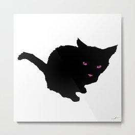 Staring Cat Metal Print