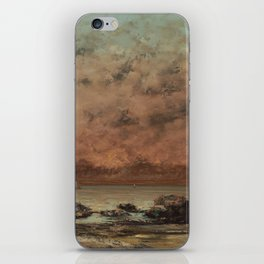 Gustave Courbet The Black Rocks at Trouville 18651866 Painting iPhone Skin