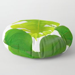 Beautiful Large Green Monstera Leaves On A White Background Fresh Mood #decor #society6 #buyart Floor Pillow