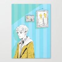 kieren walker Canvas Prints featuring In The Flesh - Kieren  by Cy-lindric