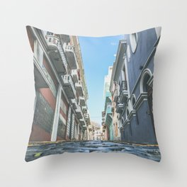 Puerto Rico Streets Throw Pillow