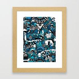 Buenas Noches Framed Art Print