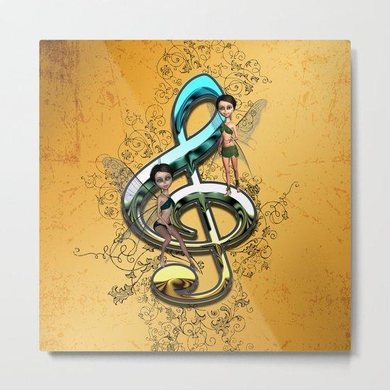Decorative clef  Metal Print
