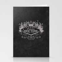 sin city Stationery Cards featuring Sin City (Black) by Gusto NYC
