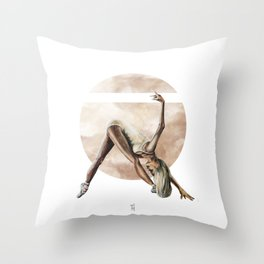 Aquarelle Ballerina 06 Throw Pillow