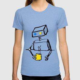 Robot on Coffee Break T-shirt