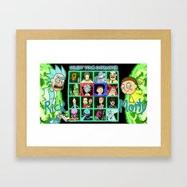 Rick Selects His Character Framed Art Print