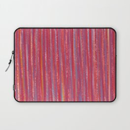 Stripes  - Candy pink red orange and blue Laptop Sleeve