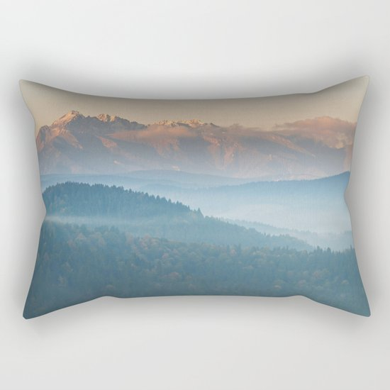 The mountains are calling #sunset Rectangular Pillow