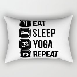 repeat yoga Rectangular Pillow