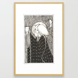 Figures from the past Framed Art Print