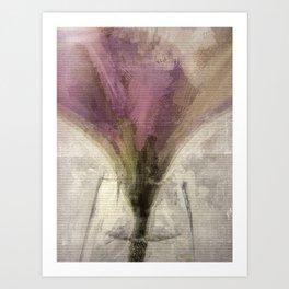 Purple Tulip in Glass Vase Art Print