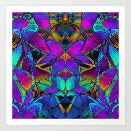 Floral Fractal Art G308 Art Print