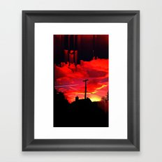 Dreaming On A Train Framed Art Print