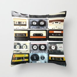 cassette nostalgy Throw Pillow