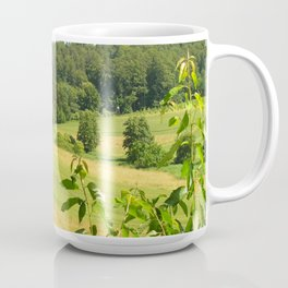 Landscape photo of a field in southern Germany Coffee Mug