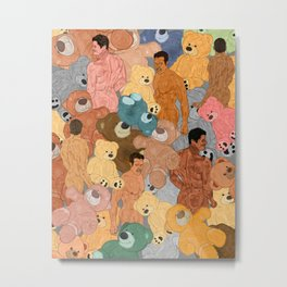 Teddy Bear Butts Metal Print