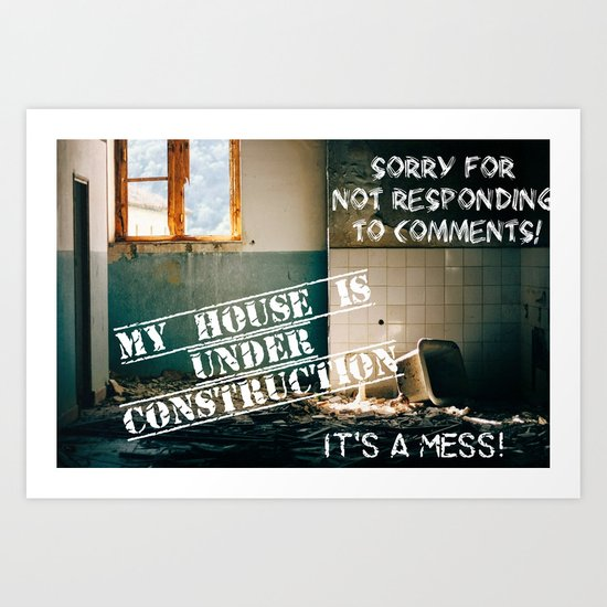 I'm sorry.........so sorry.......! Art Print