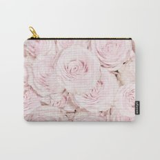 Roses have thorns- Floral Flower Pink Rose Flowers on #Society6 Carry-All Pouch