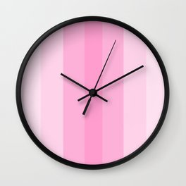 Beauty Powder Puff Pinks - Lines 1 thru 4 Wall Clock