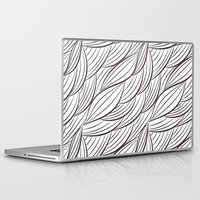 house stark Laptop & iPad Skins featuring Stark Waves by SonyaDeHart