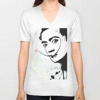 dali V-neck T-shirts featuring Dali by Cynthia Alvarez
