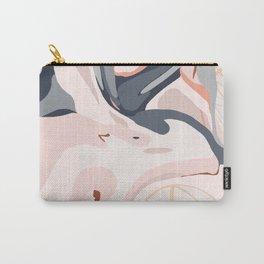 Elegant Zen Marbled Effect Design Carry-All Pouch