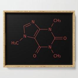 Caffiene Molecule | Molecules | Coffee | Coffee lover Serving Tray