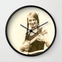 ursula Wall Clocks featuring Ursula by Julia Kathryn